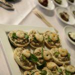 Brötchen mit Thunfischcreme und Garnele