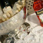 Eis gekühlter Prosecco Aperol & Shots im Reagenzglas - Sektempfang